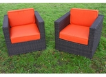 Armchair Set - Bellagio Armchair 2-Piece Set Orange - PLI-BELLARM2OR