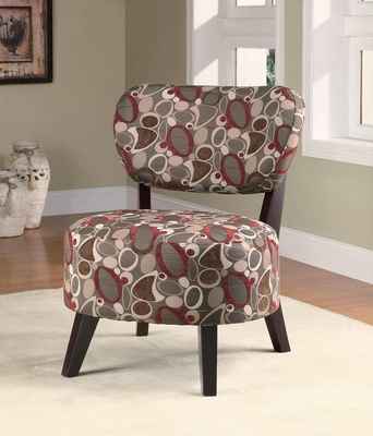 Armless Accent Chair with Oblong Pattern - 900425