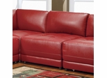 Armless Chair in Red Leather - Coaster