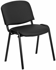 Armless Ergonomic Stack Chair - EU-84-BK-VYL-GG