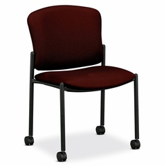 Armless Guest Chair - Wine 2 Count- HON4077NT69T