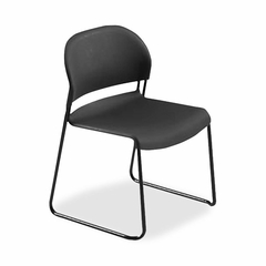 Armless Stacking Chair - Black 4 Count- HON403110T