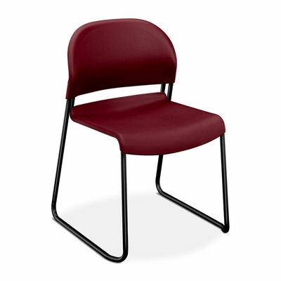 Armless Stacking Chair - Burgundy 4 Count- HON403162T