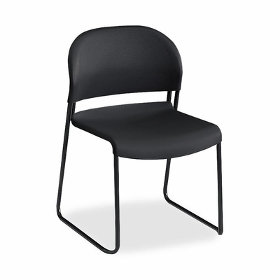 Armless Stacking Chair - Charcoal 4 Count- HON403112T