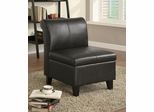Armless Storage Chair with Wood Feet - 900270