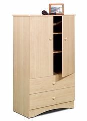 Armoire - 2 Door Man's / 2 Drawer Chest - Alegria Collection - Nexera Furniture - 5607