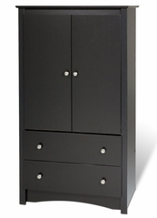 Armoire in Black - Sonoma Collection - Prepac Furniture - BDC-3359