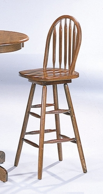 Arrow Back Bar Stool in Oak - Coaster
