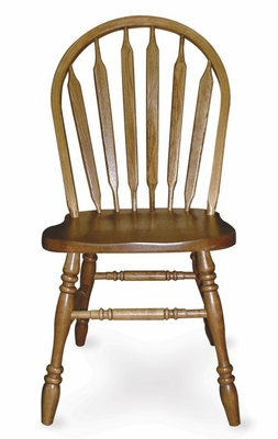 Arrowback Side Chair in Medium Oak - 1C04-1050
