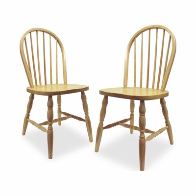 Arrowback Windsor Chair - Set of 2 - Winsome Trading - 83237