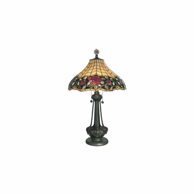 Art Glass Autumn Rose Table Lamp - Dale Tiffany