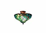 Art Glass Savannah Flush Mount Ceiling Light - Dale Tiffany