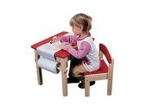 Art Table and Chair Set - Red - Guidecraft - G98049