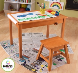 Art Table with Stool - KidKraft Furniture - 26952