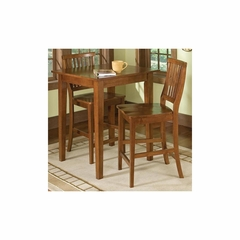 Arts and Crafts 3PC Bistro Set - Cottage Oak - Home Styles - HS-5180-359