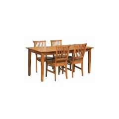 Arts and Crafts 5PC Rectangular Dining Set Cottage Oak - Home Styles - HS-5180-318