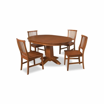 Arts and Crafts 5PC Round Dining Set - Home Styles - HS-5180-308