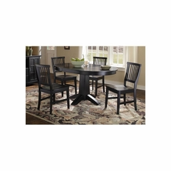 Arts and Crafts 5PC Round Dining Set in Black - Home Styles - HS-5181-308