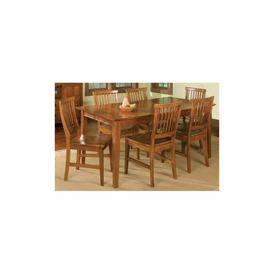 Arts and Crafts 7PC Rectangular Dining Set Cottage Oak - Home Styles - HS-5180-319