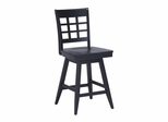 Arts and Crafts Bar Stool in Ebony - Home Styles - 5181-88