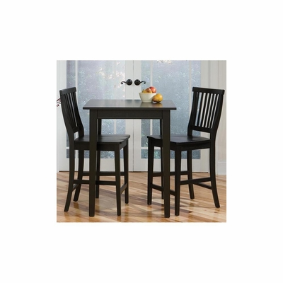 Arts and Crafts Bistro Table and Stools Set - Black - Home Styles - HS-5181-359