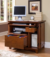 Arts and Crafts Compact Computer Cabinet in Cottage Oak - Home Styles - 5180-19