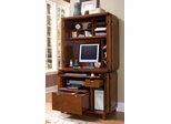 Arts and Crafts Compact Computer Cabinet with Hutch in Cottage Oak - Home Styles - 5180-190
