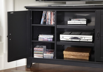 Arts and Crafts Corner Entertainment TV Stand in Black - Home Styles - 5181-07