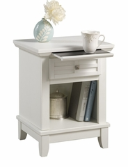 Arts and Crafts Night Stand in White - Home Styles - 5182-42