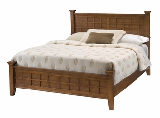Arts and Crafts Queen Size Bed in Cottage Oak - Home Styles - 5180-500