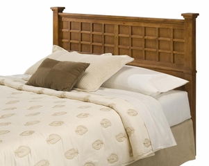 Arts and Crafts Queen Size Headboard in Cottage Oak - Home Styles - 5180-501