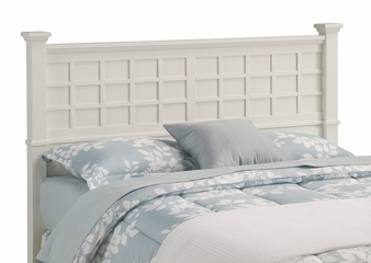 Arts and Crafts Queen Size Headboard in White - Home Styles - 5182-501