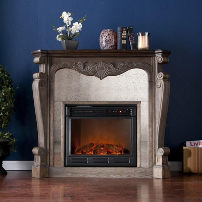 Arturo Burnt Oak Electric Fireplace - Holly and Martin