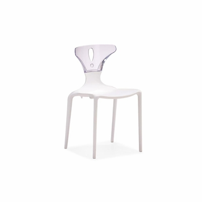 Askew Dining Chair in White - Set of 4 - Zuo