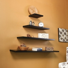 "SEI Aspen Floating Shelf 24"" Black"
