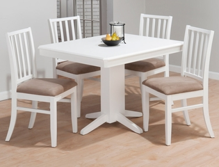 Aspen White 5-Piece Dining Set  - 625-44T