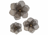 Astaire Flower Wall Decor (Set of 3) - IMAX - 87229-3