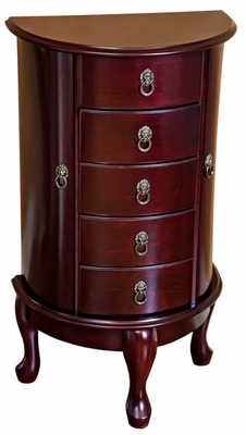 Astoria Wooden Jewelry Armoire in Cherry - Mele