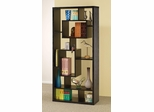 Asymmetrical Cube Black Book Case with Shelves - 800262