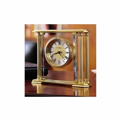 Athens Table Top Clock in Brass - Howard Miller