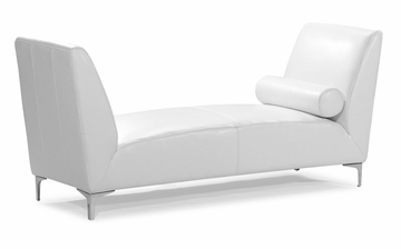 Atlas Bench in White - Zuo Modern - 900331