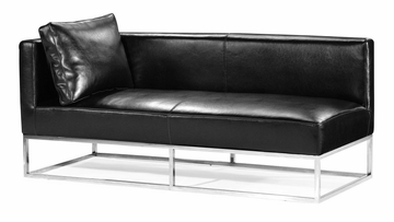 Atom Bench (Left) in Black - Zuo Modern - 900320L