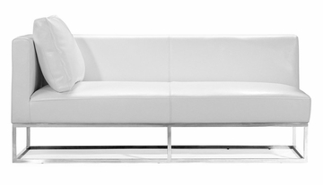 Atom Bench (Left) in White - Zuo Modern - 900321L