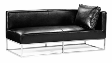 Atom Bench (Right) in Black - Zuo Modern - 900320R