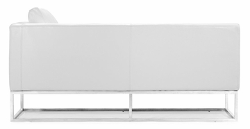 Atom Bench (Right) in White - Zuo Modern - 900321R