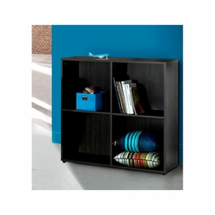 Atom Double Open Storage Module with 2 Shelves - Nexera Furniture