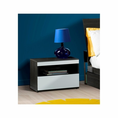 Atom Night Table with Techno Shelf & 1 Drawer - Nexera Furniture