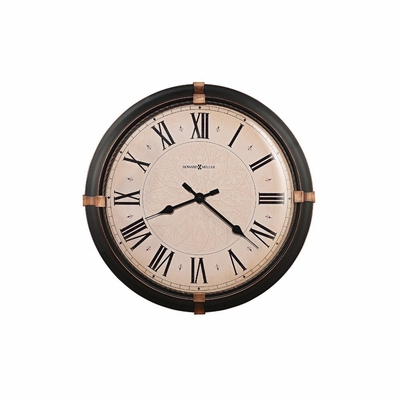 Atwater Round Metal Wall Clock - Howard Miller
