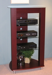 Audio Entertainment Stand in Cherry - 4D Concepts - 64623