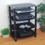 Audio Stand - Everest Multilevel Component Stand in Black - V35CMPB